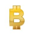 bitcoin money financial item economy icon vector image