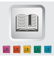 Book Single flat icon vector image vector image
