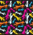 bright abstract background graffiti seamless vector image vector image