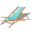 cartoon chaise longue for the beach vector image