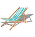 cartoon chaise longue for the beach vector image vector image