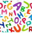children s english alphabet in seamless pattern vector image vector image