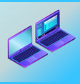 colored futuristic laptop in isometry vector image