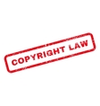 Copyright Law Text Rubber Stamp vector image vector image