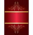 elegant red card with golden decor vector image vector image