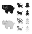 entertainment farm pets and other web icon in vector image