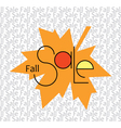 Fall Sale Background vector image