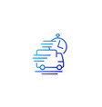 fast delivery service line icon vector image