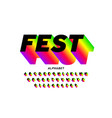 fest style bright font design vector image vector image