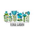 floral garden sketch for your design vector image vector image