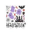 flying ghost spirit on haloween invitation vector image vector image
