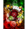 gambling roulette wheel vector image vector image