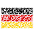 germany flag collage of arrow left items vector image vector image