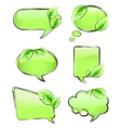 Green banners with leaf vector image vector image