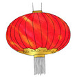 hand drawn watercolor chinese lantern chinese new vector image vector image