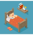 Happy to sleep Sleeping boy vector image vector image
