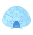 igloo ice house vector image vector image