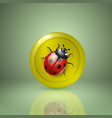 ladybird yellow style icon for app or web design vector image vector image