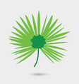 leaf palm tree isolated on white background vector image vector image