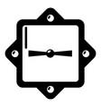 lock retro icon simple black style vector image vector image