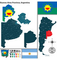 map of buenos aires province argentina vector image vector image