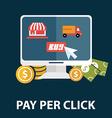 pay per click vector image vector image