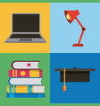 people learning education related vector image vector image