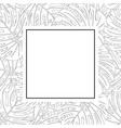 philodendron monstera leaf outline banner card vector image