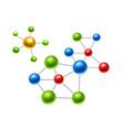 Realistic atomic molecule 3d atoms set