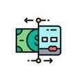 recharge cards bank atm cash dispenser vector image vector image