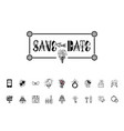 save date calligraphy lettering vector image