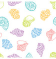 seamless pattern from colorful seashell vector image vector image