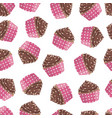 seamless pattern of cake vector image