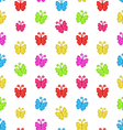 Seamless Pattern with Multicolored Hand Drawn vector image vector image