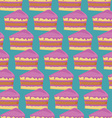 Seamless pattern with pieces of cakes vector image vector image