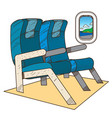seats on the plane color on the theme of travel vector image