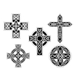 Set of celtic crosses vector image vector image
