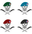 set of sign of special forces of france vector image vector image