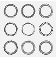 set of silhouette round laurel wheat wreaths vector image vector image