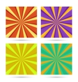 set of sunburst backgrounds vector image