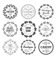 set of various small business badges with vector image vector image