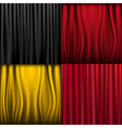 silk curtains vector image vector image