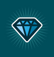 simple diamond icon vector image vector image