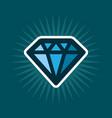 simple diamond icon vector image vector image