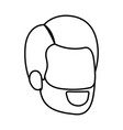 sketch silhouette of bearded man faceless vector image