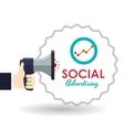 Social Advertising design Media icon White vector image