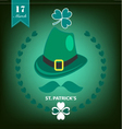 st patrick day background clover vector image vector image