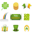 St Patrick's ornaments vector image