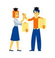 student graduate woman man with diploma vector image vector image