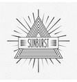 sunburst frame design vector image